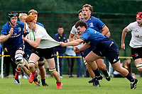 Saturday 4th September 20218 <br /> <br /> Mark Law during U18 Clubs inter-pro between Ulster Rugby and Leinster at Newforge Country Club, Belfast, Northern Ireland. Photo by John Dickson/Dicksondigital