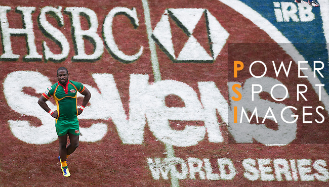 Portugal play Guyana on Day 1 of the 2012 Cathay Pacific / HSBC Hong Kong Sevens at the Hong Kong Stadium in Hong Kong, China on 23rd March 2012. Photo © Ricardo Ordonez  / The Power of Sport Images