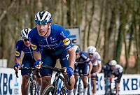 Bert Van Lerberghe (BEL/Deceuninck - Quick Step) up the Kemmelberg<br /> <br /> 83rd Gent-Wevelgem - in Flanders Fields (ME - 1.UWT)<br /> 1 day race from Ieper to Wevelgem (BEL): 254km<br /> <br /> ©kramon