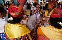 Europe/France/DOM/Antilles/Petites Antilles/Guadeloupe/Pointe-à-Pitre : Fête des cuisinières - Le repas de  la Fête des Cuisinières