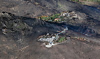 Adjacent mountain homes survive and are destroyed Atlas Fire, Napa County, California, northern California wildfires, 2017.