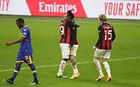 Milano  13-12-2020<br /> Stadio Giuseppe Meazza<br /> Campionato Serie A Tim 2020/21<br /> Milan - parma<br /> nella foto:   esultanza dopo il pareggio                                                       <br /> Antonio Saia Kines Milano