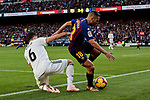 FC Barcelona's Jordi Alba and Real Madrid's Nacho Fernandez during La Liga match between FC Barcelona and Real Madrid at Camp Nou Stadium in Barcelona, Spain. October 28, 2018. (ALTERPHOTOS/A. Perez Meca)