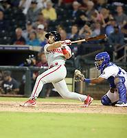 Austin Listi plays in the 2018 Arizona Fall League Fall Stars Game at Surprise Stadium on November 3, 2018 in Surprise, Arizona. The game was won by the West team, 7-6 (Bill Mitchell)