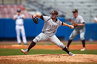 Lehigh Mountain Hawks relief pitcher Matt Kozemchak (36) delivers a pitch during a game against the Dartmouth Big Green on March 20, 2016 at Chain of Lakes Stadium in Winter Haven, Florida.  Dartmouth defeated Lehigh 5-4.  (Mike Janes/Four Seam Images)
