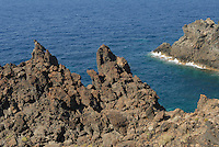 - island of Pantelleria, the coast near Spadillo Point....- isola di Pantelleria, la costa nei pressi punta Spadillo