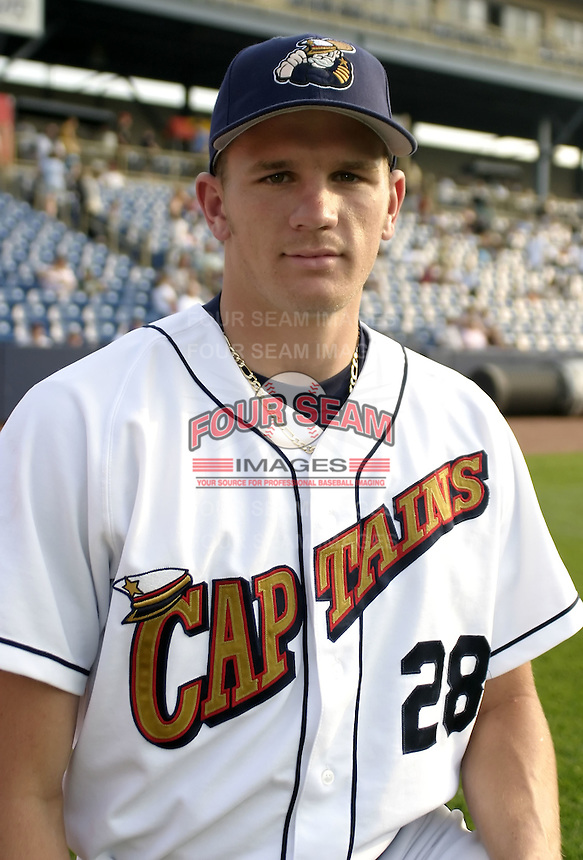 June 7, 2004:  Adam Miller of the Lake County Captains, Low-A South Atlantic League affiliate of the Cleveland Indians, during a game at Classic Park in Eastlake, OH.  Photo by:  Mike Janes/Four Seam Images