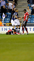 Ipswich Town's Joe Garner lays prone during the Sky Bet Championship match between Millwall and Ipswich Town at The Den, London, England on 15 August 2017. Photo by Carlton Myrie.