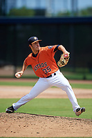 GCL Astros relief pitcher Joey Gonzalez (35) delivers a pitch during a game against the GCL Nationals on August 6, 2018 at FITTEAM Ballpark of the Palm Beaches in West Palm Beach, Florida.  GCL Astros defeated GCL Nationals 3-0.  (Mike Janes/Four Seam Images)