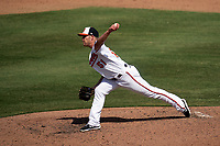 Baltimore Orioles pitcher Paul Fry (51) during a Major League Spring Training game against the Philadelphia Phillies on March 12, 2021 at the Ed Smith Stadium in Sarasota, Florida.  (Mike Janes/Four Seam Images)