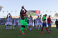 CARSON, CA - FEBRUARY 1: USMNT players celebrate after the match during a game between Costa Rica and USMNT at Dignity Health Sports Park on February 1, 2020 in Carson, California during a game between Costa Rica and USMNT at Dignity Health Sports Park on February 1, 2020 in Carson, California.