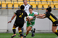 Rangimarie Sturmey of the Manawatu is tackled during the Farah Palmer Cup Rugby – Wellington v Manawatu at Sky Stadium, Wellington, New Zealand on Friday 25 September 2020. <br /> Photo by Masanori Udagawa. <br /> www.photowellington.photoshelter.com