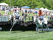 Dalucci, left, beats Swagger Stick in the Bright Hour Amateur Hurdle at Nashville.