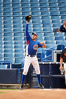 Alex Kirilloff (11) of Plum High School in New Kensington, Pennsylvania playing for the Chicago Cubs scout team during the East Coast Pro Showcase on July 29, 2015 at George M. Steinbrenner Field in Tampa, Florida.  (Mike Janes/Four Seam Images)