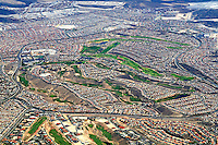 Aerial view new housing neighborhoods Las Vegas Nevada