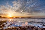 Sunrise near Schoodic Point in Acadia National Park, Maine, USA
