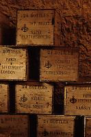 Europe/France/Champagne-Ardenne/51/Marne/Reims: Caves Veuve-Clicquot - Caisses d'expédition des Champagnes - Maison de Champagne Veuve Clocquot Ponsardin