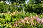 Florence Griswold Museum, Old Lyme, CT. Flower and perennial garden. July