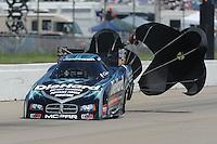 May 22, 2011; Topeka, KS, USA: NHRA funny car driver Matt Hagan during the Summer Nationals at Heartland Park Topeka. Mandatory Credit: Mark J. Rebilas-