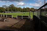 Nelson 3 Daisy Hill 6, 12/10/2019. Victoria Park, North West Counties League, First Division North. The groundsman lines the pitch before Nelson hosted Daisy Hill at Victoria Park. Founded in 1881, the home club were members of the Football League from 1921-31 and has played at their current ground, known as Little Wembley, since 1971. The visitors won this fixture 6-3, watched by an attendance of 78. Photo by Colin McPherson.