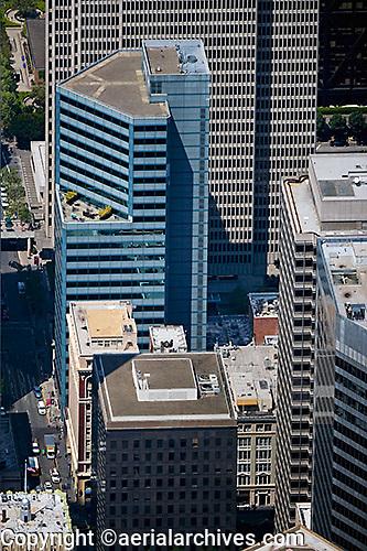 aerial photograph 353 Sacramento Street office tower San Francisco