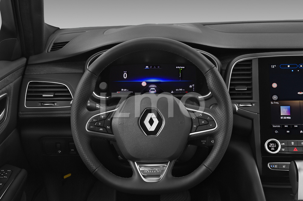 Car pictures of steering wheel view of a 2021 Renault Talisman-Grandtour Initiale-Paris 5 Door Wagon Steering Wheel