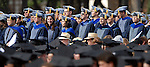 Students receiving advanced degrees stand at the commencement ceremonies at Rice University Saturday mornging May 09,2009.(Dave Rossman/For the Chronicle)