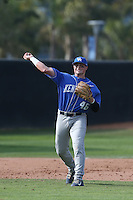 Thomas Bernal (46) of the Kentucky Wildcats in the field during a game against the UC Santa Barbara Gauchos at Caesar Uyesaka Stadium on March 20, 2015 in Santa Barbara, California. UC Santa Barbara defeated Kentucky, 10-3. (Larry Goren/Four Seam Images)