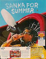 Sanka Skywriter ad, Young & Rubicam, 1983. Photo by John G. Zimmerman.