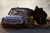 NASCAR Camping World Truck Series<br /> M&M's 200 presented by Casey's General Store<br /> Iowa Speedway, Newton, IA USA<br /> Friday 23 June 2017<br /> Harrison Burton, Morton Buildings Toyota Tundra pit stop<br /> World Copyright: Brett Moist<br /> LAT Images