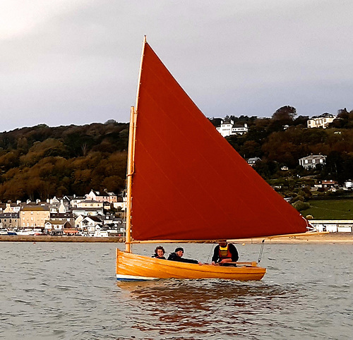 The new Droleen – seen here sailing off the coast of Dorset – is now based in Gweedore in Donegal