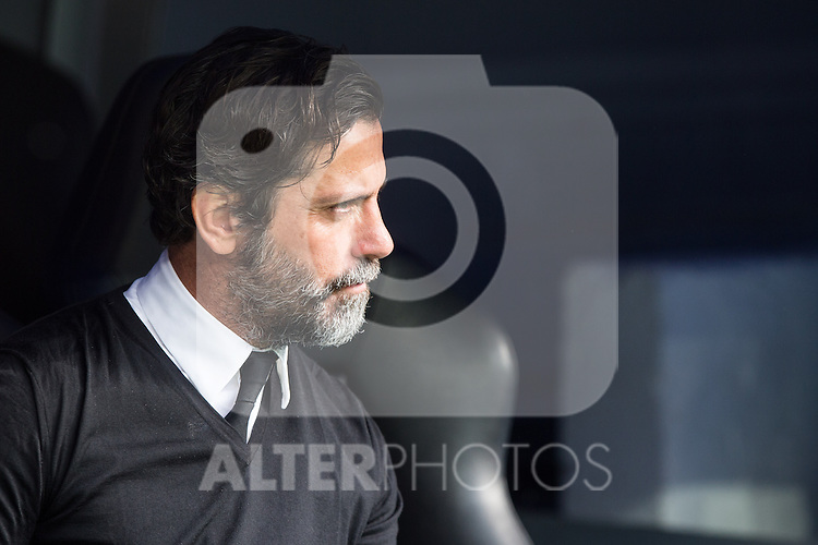 Enrique Sanchez Flores of RCD Espanyol during the match of La Liga between Real Madrid and RCE Espanyol at Santiago Bernabeu  Stadium  in Madrid , Spain. February 18, 2016. (ALTERPHOTOS/Rodrigo Jimenez)