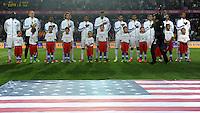 PRAGUE, Czech Republic - September 3, 2014: USA's starting Eleven during the international friendly match between the Czech Republic and the USA at Generali Arena.