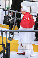 Pope Benedict XVI  during a pastoral visit to the village of Carpineto, 80 kms (50 miles) from Rome,Italy  The pope marked the 200th anniversary of the birth of Leo XIII,  September 5, 2010