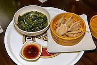 Mandu - gedämpfte Teigtaschen, koeranisches Restaurant Han Mi, Rentzelstr. 36 , Hamburg, Deutschland<br /> Mandu -steamed dumplings, Korean  Restaurant Han Mi, Rentzelstr. 36 , Hamburg, Germany