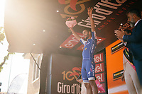 Fernando Gaviria's (COL/Quick-Step Floors) 4th Giro stage win podium celebration<br /> <br /> 100th Giro d'Italia 2017<br /> Stage 13: Reggio Emilia › Tortona (167km)