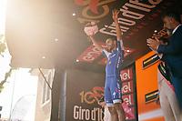 Fernando Gaviria's (COL/Quick-Step Floors) 4th Giro stage win podium celebration<br /> <br /> 100th Giro d'Italia 2017<br /> Stage 13: Reggio Emilia › Tortona (167km)