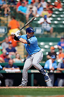 Tampa Bay Rays catcher Mike Zunino (10) at bat during a Grapefruit League Spring Training game against the Baltimore Orioles on March 1, 2019 at Ed Smith Stadium in Sarasota, Florida.  Rays defeated the Orioles 10-5.  (Mike Janes/Four Seam Images)