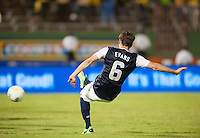 Kingston, Jamaica - Friday, June 7, 2013: USMNT 2-1 over Jamaica  during World Cup qualifying at the National Stadium. Brad Evans scores the winning goal.