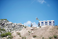 at 1850m altitude a temporary village emerges for 1 day on the Göğübeli Pass<br /> <br /> Tour of Turkey 2014<br /> stage 3