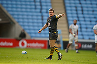22nd November 2020; Ricoh Arena, Coventry, West Midlands, England; English Premiership Rugby, Wasps versus Bristol Bears; Jimmy Gopperth of Wasps issues instructions after kicking another conversion
