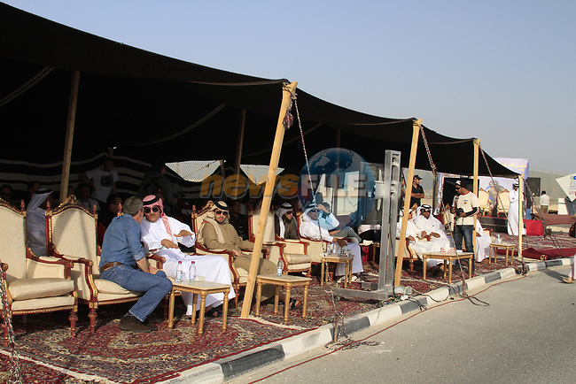 Dignitaries relax at the finish of Stage 1 of the Tour of Qatar 2012 running 142.5km from Barzan Towers to Doha Golf Club, Doha, Qatar. 5th February 2012.<br /> (Photo by Eoin Clarke/NEWSFILE).