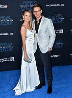 "LOS ANGELES, USA. December 17, 2019: Matt Lanter & Angela Stacy at the world premiere of ""Star Wars: The Rise of Skywalker"" at the El Capitan Theatre.<br /> Picture: Paul Smith/Featureflash"