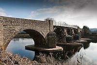 Whitney-on-Wye Toll Bridge, Herefordshire.
