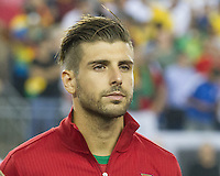 Portugal midfielder Miguel Veloso (4).  In an International friendly match Brazil defeated Portugal, 3-1, at Gillette Stadium on Sep 10, 2013.