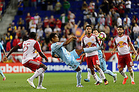 Harrison, NJ - Thursday Sept. 15, 2016: Oscar Guerrero during a CONCACAF Champions League match between the New York Red Bulls and Alianza FC at Red Bull Arena.