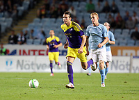 Thursday 08 August 2013<br /> Pictured: Michu of Swansea<br /> Re: Malmo FF v Swansea City FC, UEFA Europa League 3rd Qualifying Round, Second Leg, at the Swedbank Stadium, Malmo, Sweden.