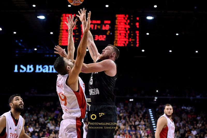 New Zealand Tall Blacks' Tom Vodanovich in action during the FIBA World Cup Basketball Qualifier - NZ Tall Blacks v Syria at TSB Bank Arena, Wellington, New Zealand on Sunday 2 2018. <br /> Photo by Masanori Udagawa. <br /> www.photowellington.photoshelter.com