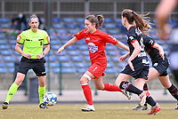 Kenza Vrithof (9) of Woluwe pictured during a female soccer game between FC Femina White Star Woluwe and SV Zulte Waregem on the fifth matchday of play off 2 in the 2020 - 2021 season of Belgian Scooore Womens Super League , Saturday 8 th of May 2021  in Woluwe , Belgium . PHOTO SPORTPIX.BE   SPP   DAVID CATRY