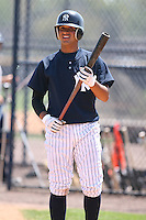 March 17th 2008:  Francisco Arcia of the New York Yankees minor league system during Spring Training at Legends Field Complex in Tampa, FL.  Photo by:  Mike Janes/Four Seam Images